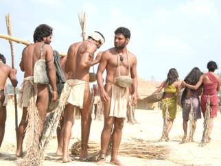 Movie Still From The Film Shudra The Rising,Pravin Baby