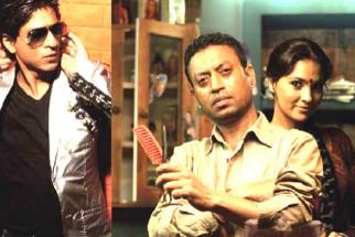 Movie Still From The Film Billu,Shahrukh Khan,Irrfan Khan,Lara Dutta