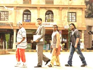 Movie Still From The Film Krazzy 4,Suresh Menon,Irrfan Khan,Rajpal Yadav,Arshad Warsi