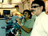 On The Sets Of The Film Billu Featuring Priyadarshan