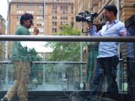 On The Sets Of The Film Heyy Babyy Featuring Sajid Khan,Akshay Kumar