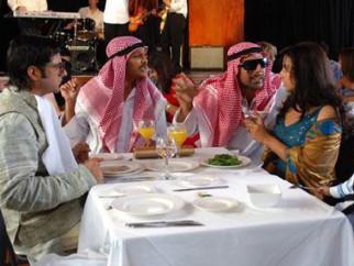 Movie Still From The Film Heyy Babyy,Fardeen Khan,Riteish Deshmukh,Akshay Kumar,Vidya Balan