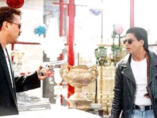 Movie Still From The Film One 2 Ka 4 Featuring Jackie Shroff,Shahrukh Khan