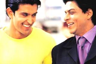 Movie Still From The Film Kabhi Khushi Kabhie Gham,Hrithik Roshan,Shahrukh Khan