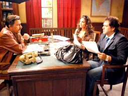 On The Sets Of The Film Banda Yeh Bindaas Hai Featuring Govinda,Lara Dutta