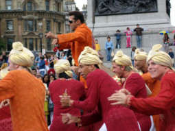 On The Sets Of The Film Salaam-E-Ishq Featuring Salman Khan