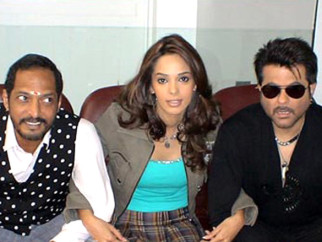 On The Sets Of The Film Welcome Featuring Nana Patekar,Mallika Sherawat,Anil Kapoor