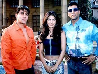 On The Sets Of The Film Mujhse Shaadi Karogi Featuring Salman Khan,Priyanka Chopra,Akshay Kumar