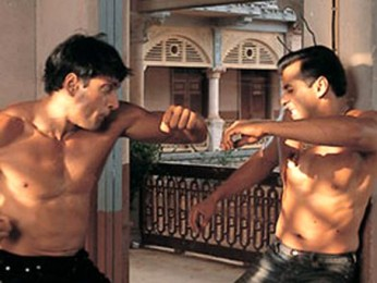 Movie Still From The Film Tumko Na Bhool Paayenge Featuring Inder Kumar,Salman Khan