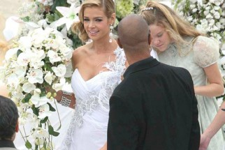 On The Sets Of The Film Kambakkht Ishq Featuring Denise Richards