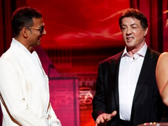 On The Sets Of The Film Kambakkht Ishq Featuring Sylvester Stallone,Akshay Kumar