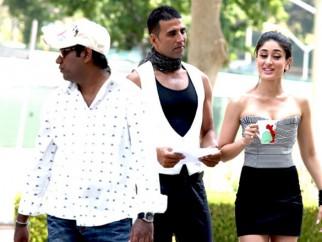 On The Sets Of The Film Kambakkht Ishq Featuring Akshay Kumar,Kareena Kapoor