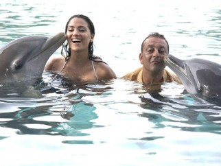 Movie Still From The Film Blue,Lara Dutta,Sanjay Dutt
