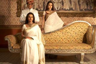 Movie Still From The Film Bhool Bhulaiyaa,Asrani,Vidya Balan,Ameesha patel