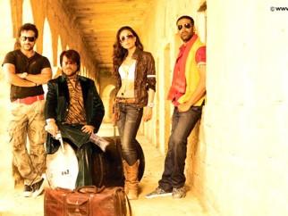 Movie Still From The Film Tashan,Saif Ali Khan,Anil Kapoor,Kareena Kapoor,Akshay Kumar
