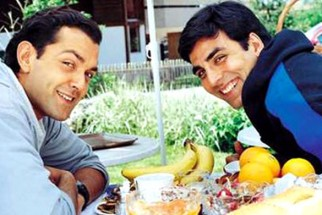 Movie Still From The Film Ajnabee Featuring Bobby Deol,Akshay Kumar