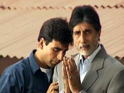 On The Sets Of The Film Ek Rishtaa The Bond of Love  Featuring Akshay Kumar,Amitabh Bachchan