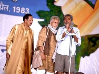 On The Sets Of The Film Raajneeti Featuring Nana Patekar,Naseeruddin Shah,Prakash Jha