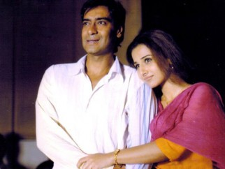Movie Still From The Film Halla Bol,Ajay Devgn,Vidya Balan