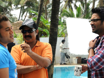 On The Sets Of The Film Jodi Breakers Featuring R Madhavan,Bipasha Basu,Omi Vaidya,Dipannita Sharma,Mrinalini Sharma,Milind Soman,Helen