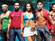 Movie Still From The Film Dhoom 2,Uday Chopra,Abhishek Bachchan,Aishwarya Rai,Hrithik Roshan,Bipasha Basu