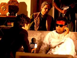 Movie Still From The Film Rann,Rajpal Yadav,Paresh Rawal