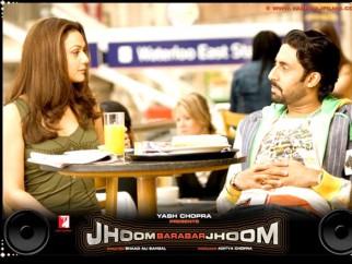 Movie Still From The Film Jhoom Barabar Jhoom,Preity Zinta,Abhishek Bachchan