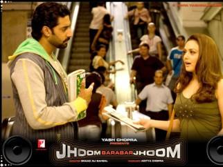 Movie Still From The Film Jhoom Barabar Jhoom,Abhishek Bachchan,Preity Zinta