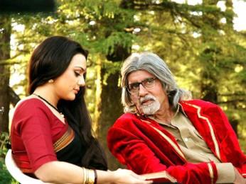 Movie Still From The Film The Last Lear Featuring Preity Zinta,Amitabh Bachchan