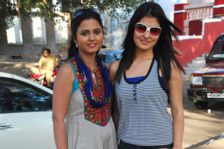 On The Sets Of The Film Tension Mat Le Yaar,Deepti Gautam,Subuhi