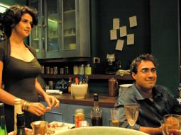 Movie Still From The Film Fatso,Gul Panag,Ranvir Shorey