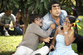 Movie Still From The Film Mera Naam Chin Chin Choo,Rajpal Yadav,Krishna Abhishek