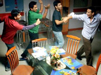 Movie Still From The Film Shuttlecock Boys,Alok Kumar,Aakar Kaushik,Manish Nawani,Vijay Prateek