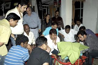 On The Sets Of The Film Riwayat,Khalid Siddiqui,Vijay Patkar