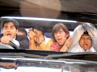 Movie Still From The Film Prem Kaa Game,Arbaaz Khan,Razzak Khan,Johny Lever