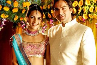 Movie Still From The Film Prem Kaa Game,Tara Sharma,Arbaaz Khan