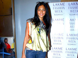 Photo Of Nina Manuel From The Celeb judges and models at LFW model auditions 2010