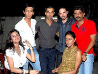 Photo Of Arya Devdutta,Anshuman Jha,Raj Kumar Yadav,Herry Tangri,Neha Chauhan,Amit Sial From Special screening of Love Sex Aur Dhokha for media