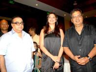 Photo Of Rajkumar Santoshi,Lakshmi Rai,Subhash Ghai From The Audio release of Kuchh Karriye