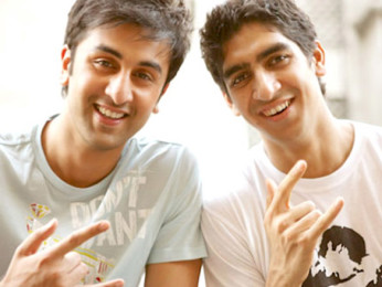 On The Sets Of The Fillim of  Wake Up Sid,Featuring,Ayan Mukerji,Ranbir Kapoor