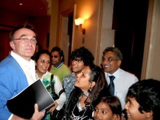 Photo Of Danny Boyle,Rubiana Ali,Tanay Chheda From Danny Boyle meet Slumdog Millionaire Kids