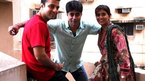 Photo Of Nakul Vaid,Sushant Singh,Sonali Kulkarni From Media meet of 'Mohandas'