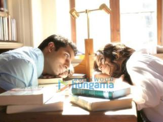 Movie Still From The Film Paa Featuring Abhishek Bachchan,Vidya Balan