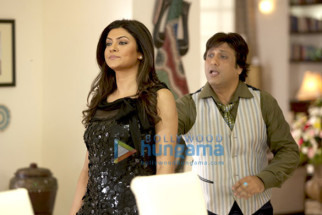 Movie Still From The Film Do Knot Disturb Featuring Sushmita Sen,Govinda