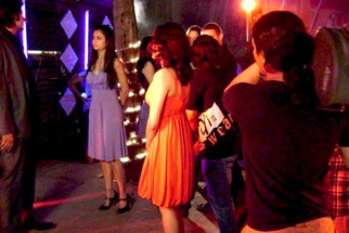On The Sets Of The Fillim of Ek Tho Chance Featuring,Amrita Arora