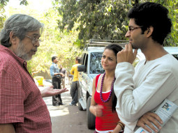 On The Sets Of The Film Ek Tho Chance Featuring Purab Kohli,Amrita Arora,Vijay Raaz,Pawan Malhotra,Zafar Karachiwala,Ashwini Kalsekar,Ashwini Kalsekar,Rajat Kapoor,Saurabh Shukla,Ali Fazal,Achyut Potdar,Vinay Pathak,Imaad Shah