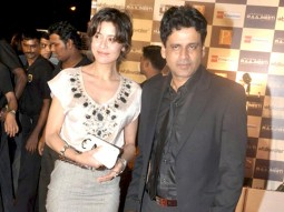 Photo Of Neha,Manoj Bajpai From The Premiere of Raajneeti