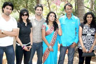 Photo Of Gagan Kang,Aabha Paul,Rajbir Singh,Kalpna Mathur,Aijaz Ahmed From The Mahurat of film 'Who's There'