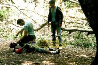 Movie Still From The Fill Agyaat Featuring Nitin Reddy,Gautam Rode