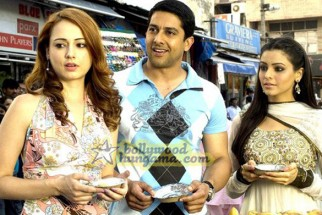Movie Still From The Film Aloo Chaat Featuring Linda Arsenio,Aamna Shariff,Aftab Shivdasani